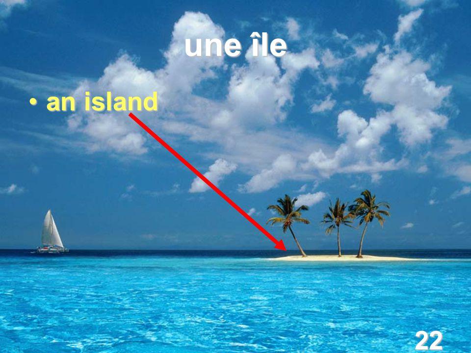 22 une île an islandan island
