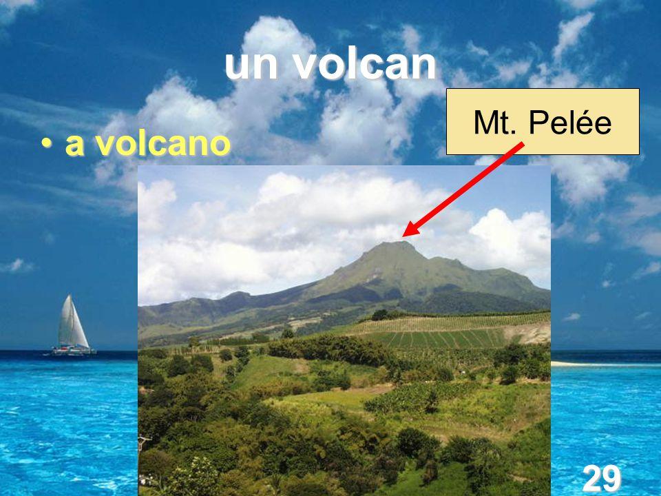 29 un volcan a volcanoa volcano Mt. Pelée