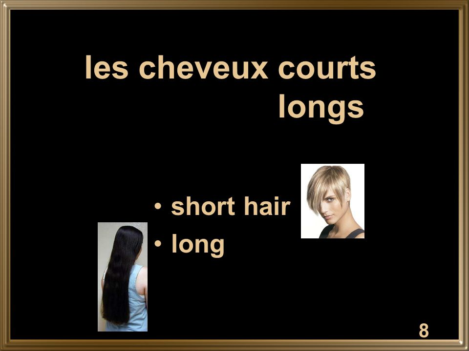 8 les cheveux courts longs short hair long