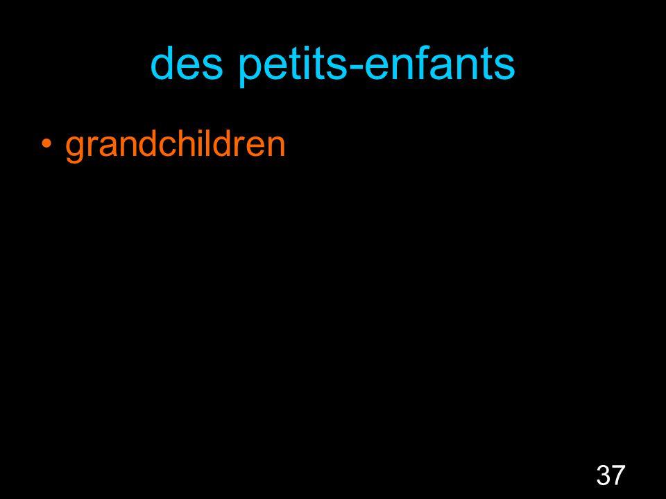 37 des petits-enfants grandchildren