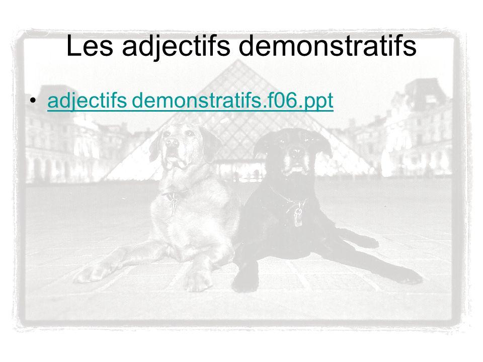 Les adjectifs demonstratifs adjectifs demonstratifs.f06.ppt
