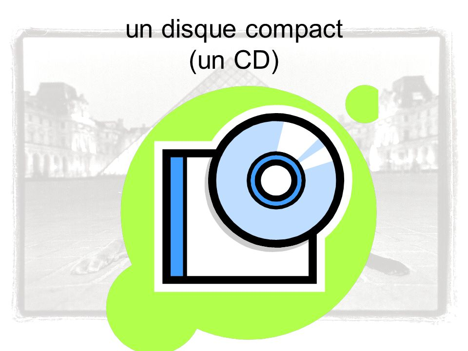 un disque compact (un CD)