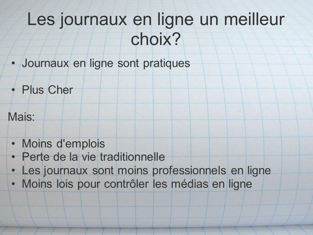 Article 1 Cet article présente les statistiques que les lieux la circulation des journaux en France comme un des plus bas dans le pays en 1885 http://query.nytimes.com/mem/archive- free/pdf?res=F20F12FA3E5B10738DDDA10A94D0405B8 584F0D3http://query.nytimes.com/mem/archive- free/pdf?res=F20F12FA3E5B10738DDDA10A94D0405B8 584F0D3 Article 2 Cet article est un autre article montrant les journaux en circulation aujourd hui.