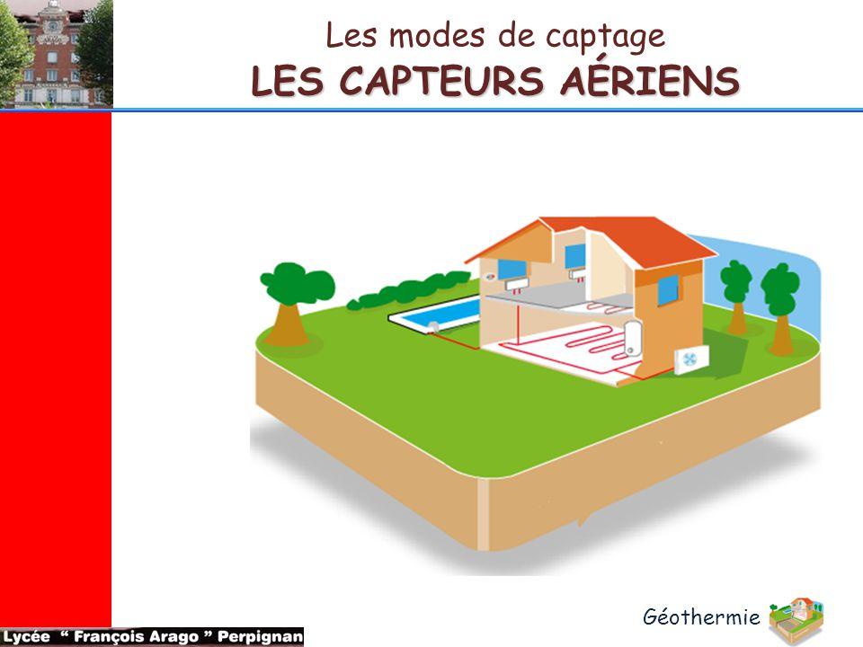 LES CAPTEURS AÉRIENS Les modes de captage Géothermie
