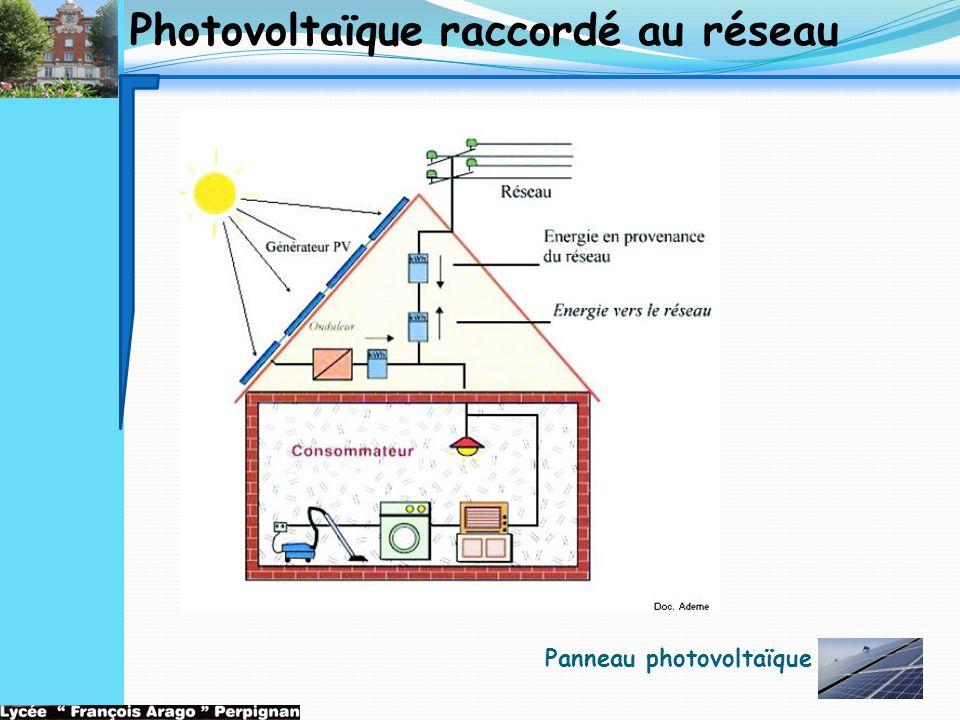 Photovoltaïque raccordé au réseau Panneau photovoltaïque