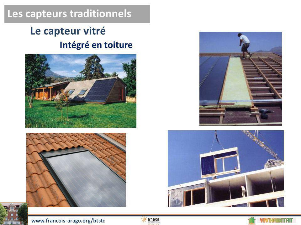 Le capteur vitré Les capteurs traditionnels Intégré en toiture www.francois-arago.org/btstc