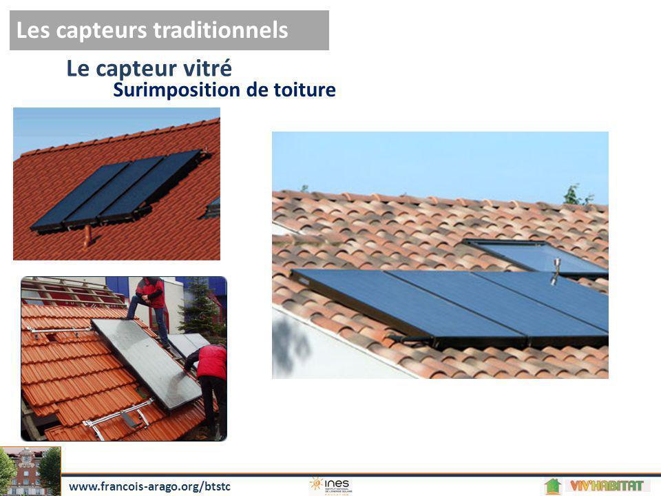 Le capteur vitré Les capteurs traditionnels Surimposition de toiture www.francois-arago.org/btstc