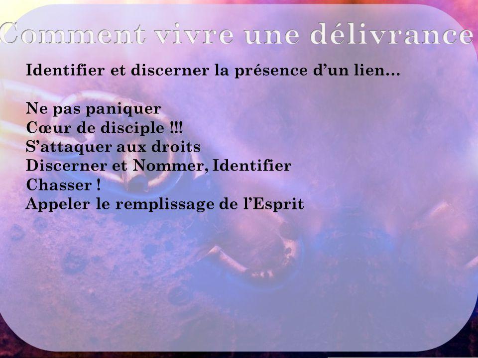 Identifier et discerner la présence d'un lien… Ne pas paniquer Cœur de disciple !!.