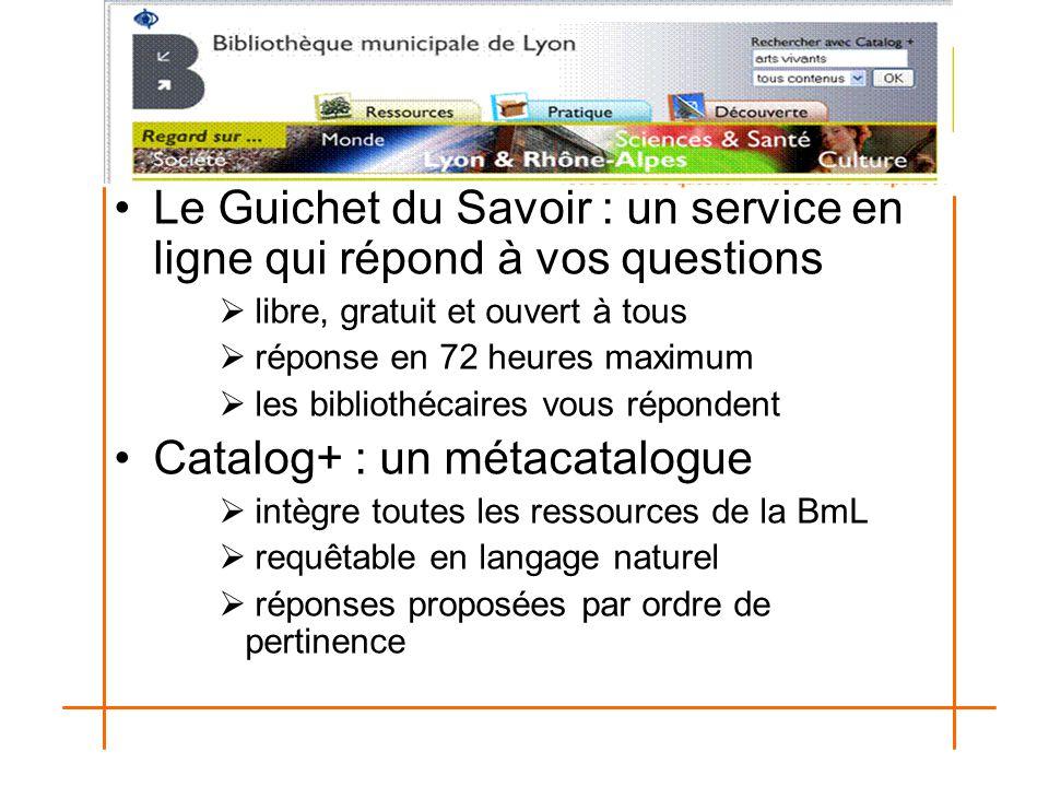 Le Guichet du Savoir : un service en ligne qui répond à vos questions  libre, gratuit et ouvert à tous  réponse en 72 heures maximum  les bibliothé