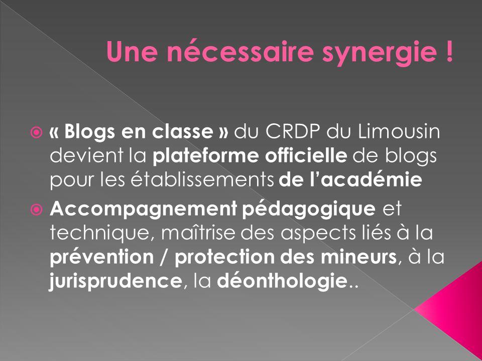  « Blogs en classe » du CRDP du Limousin devient la plateforme officielle de blogs pour les établissements de l'académie  Accompagnement pédagogique