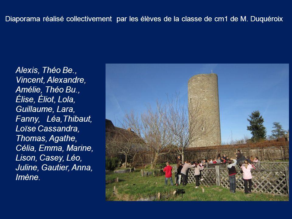 Diaporama réalisé collectivement par les élèves de la classe de cm1 de M. Duquéroix Alexis, Théo Be., Vincent, Alexandre, Amélie, Théo Bu., Élise, Éli