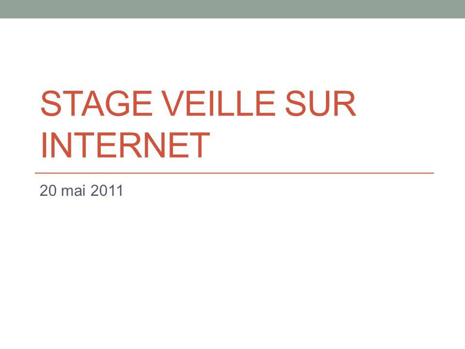 STAGE VEILLE SUR INTERNET 20 mai 2011