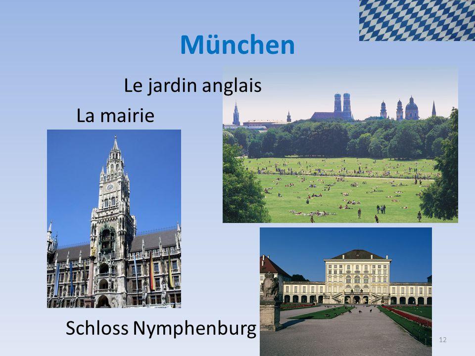 München Le jardin anglais La mairie Schloss Nymphenburg 12