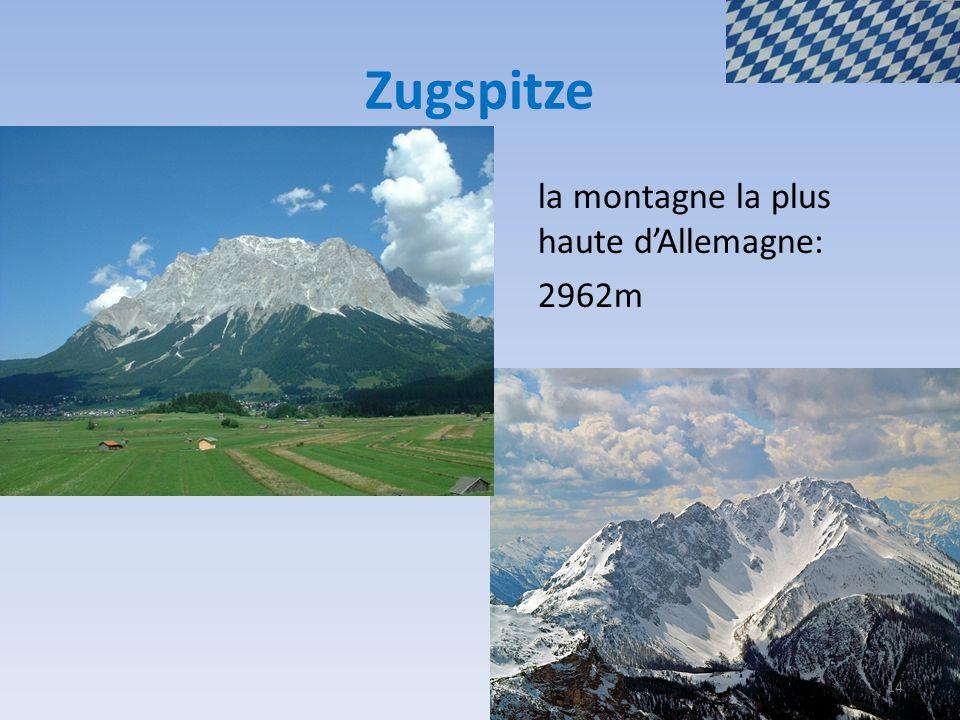 Zugspitze la montagne la plus haute d'Allemagne: 2962m 14