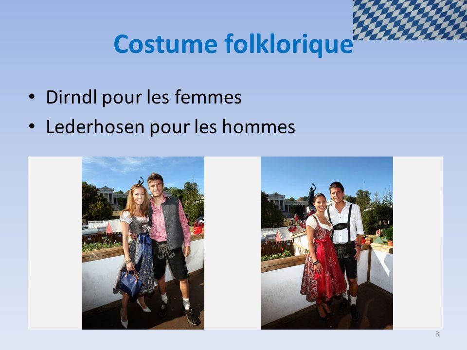 Costume folklorique Dirndl pour les femmes Lederhosen pour les hommes 8