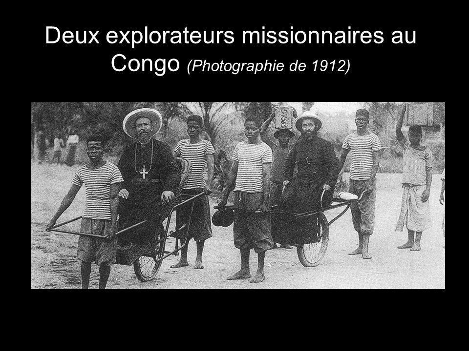 Deux explorateurs missionnaires au Congo (Photographie de 1912)