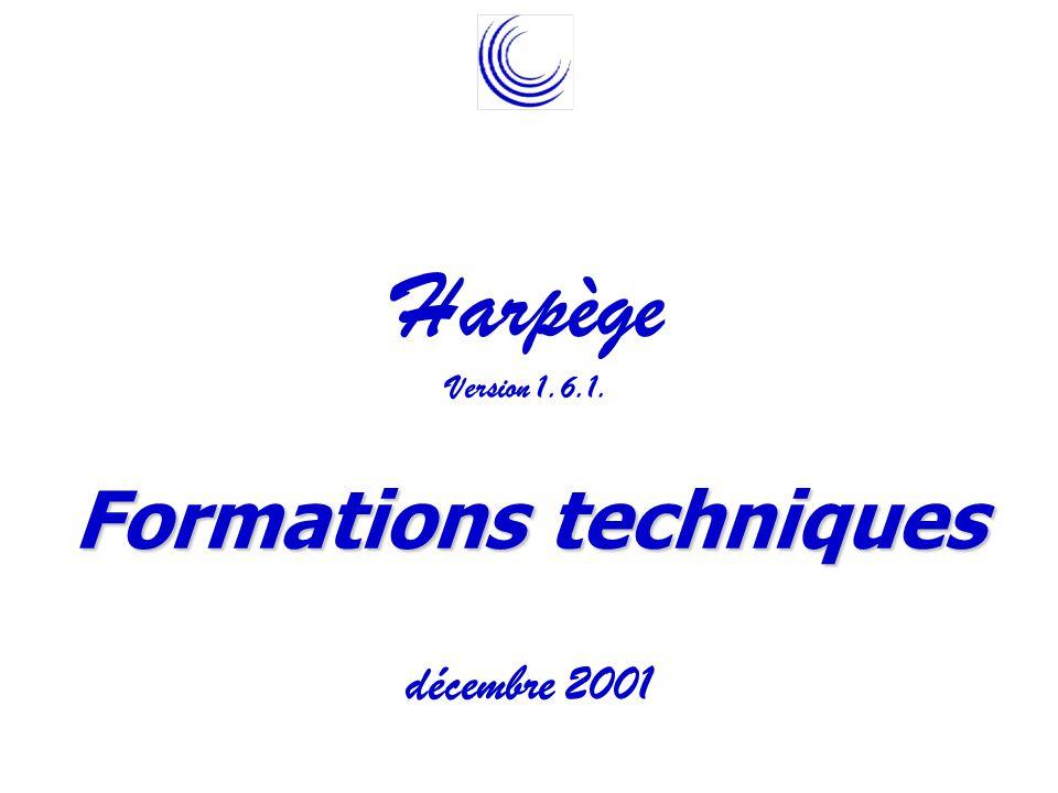 Harpège Version 1.6.1. Formations techniques décembre 2001 Agence de modernisation des universités et des établissements