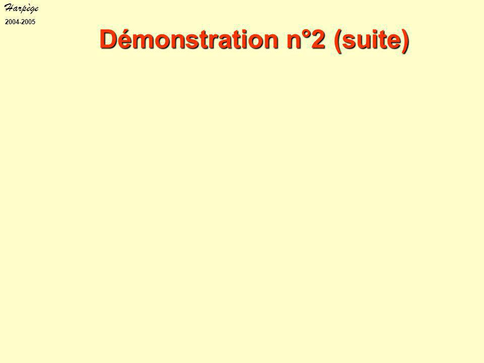 Harpège 2004-2005 Démonstration n°2 (suite)