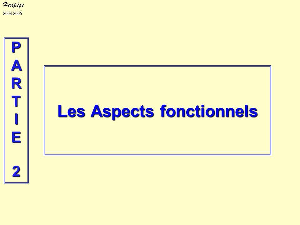 Harpège 2004-2005 Les Aspects fonctionnels PARTIE2
