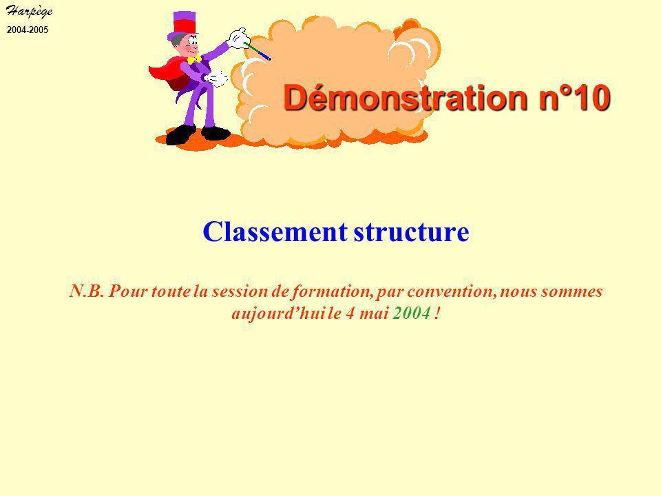 Harpège 2004-2005 Classement structure N.B.