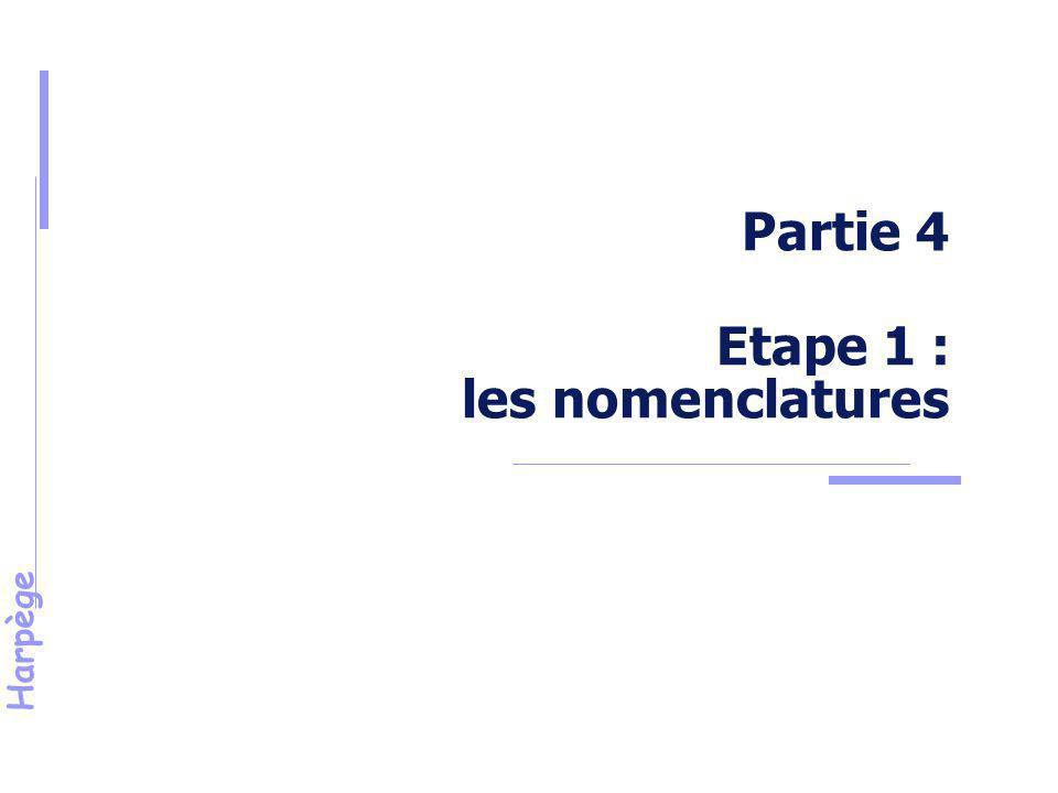 Harpège Etape 1 - Nomenclatures Définition : Catégorie de conseil, commission ou comité, dont les règles de désignation des membres élus sont identiques pour tous les conseils concernés.