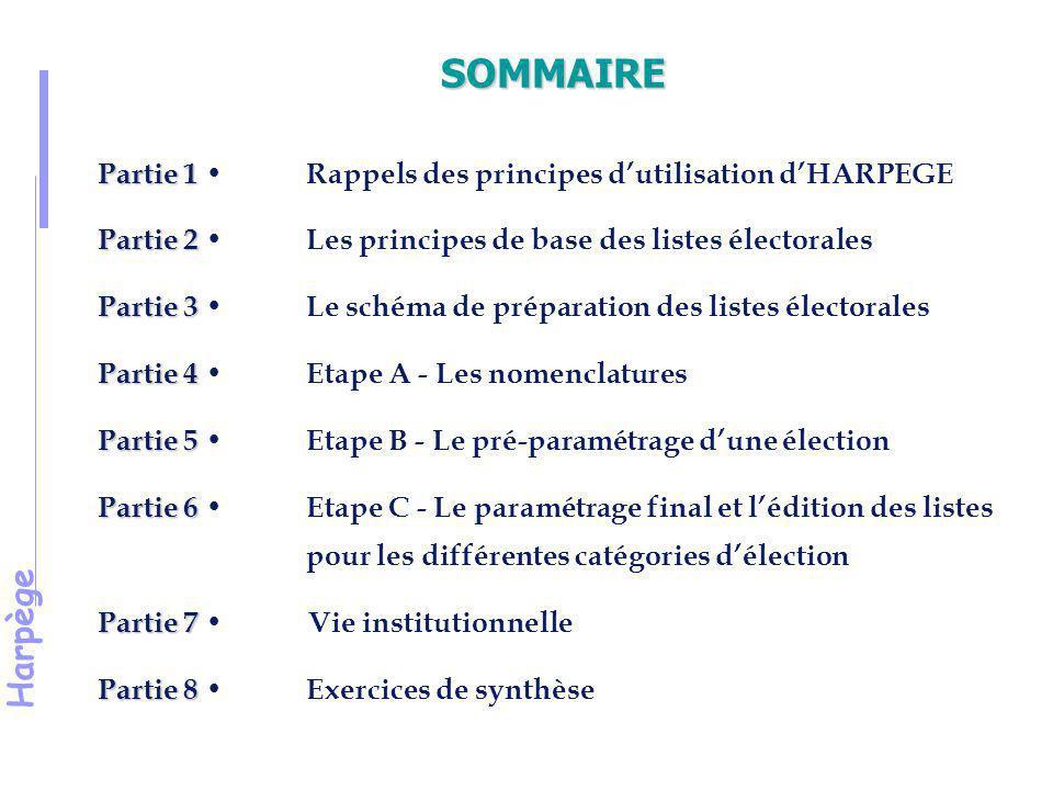 Harpège Partie 1 Rappel des principes d'utilisation d' Harpège