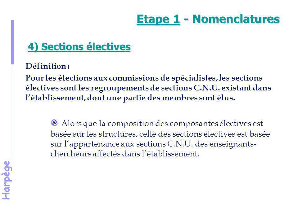 Harpège Démonstration 4 Recherche d'une section élective