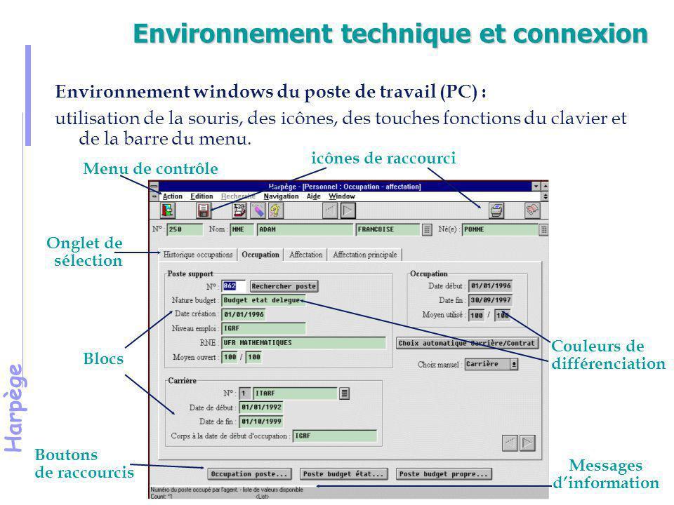 Harpège Présentation des icônes quitte l'écran en cours enregistre les données saisies et/ou modifiées crée une information efface un enregistrement à l'écran entrée des critères pour la recherche exécute la recherche annule la recherche enregistrement précédent enregistrement suivant impression de l'écran