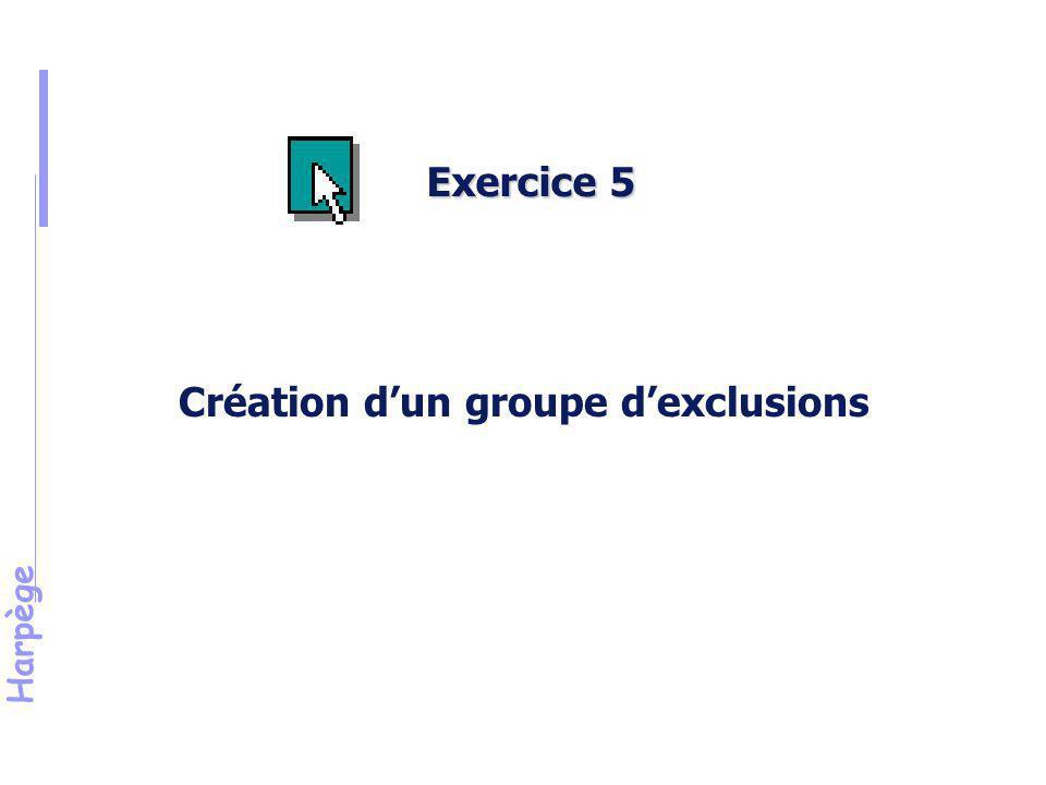 Harpège Solution de l'exercice n°5