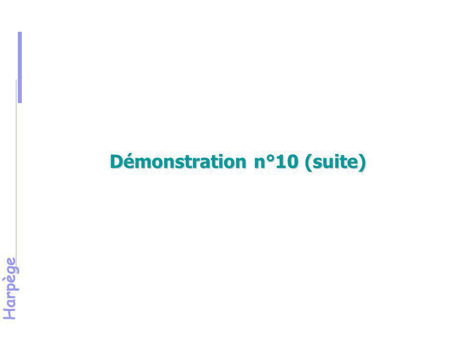 Harpège Démonstration 11 Mise en œuvre des paramétrages de sélection pour l'édition des listes