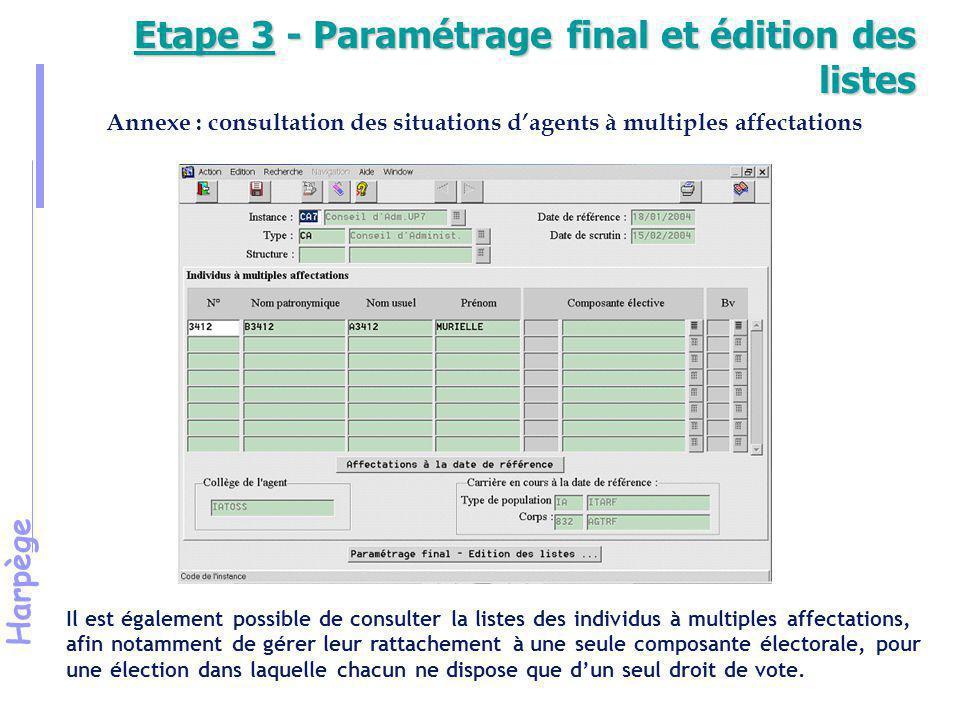 Harpège Exercice 7 Election au Conseil d'une Composante interne d'une Université