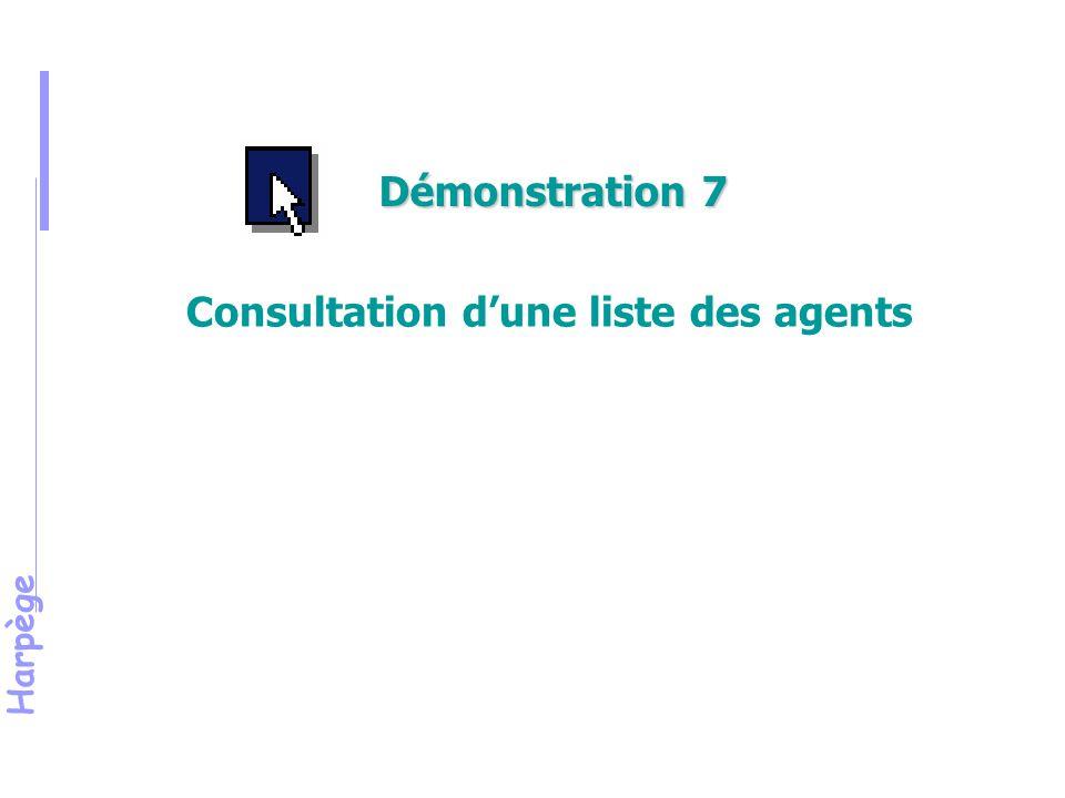 Harpège Consultation d'une liste des agents Démonstration 7