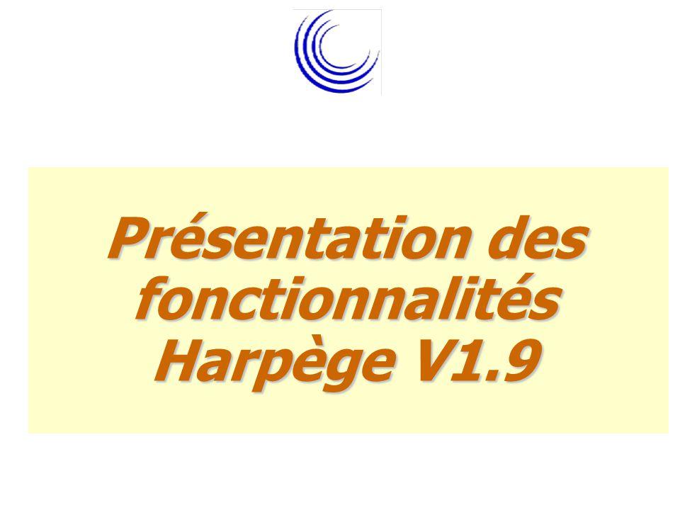 Présentation des fonctionnalités Harpège V1.9