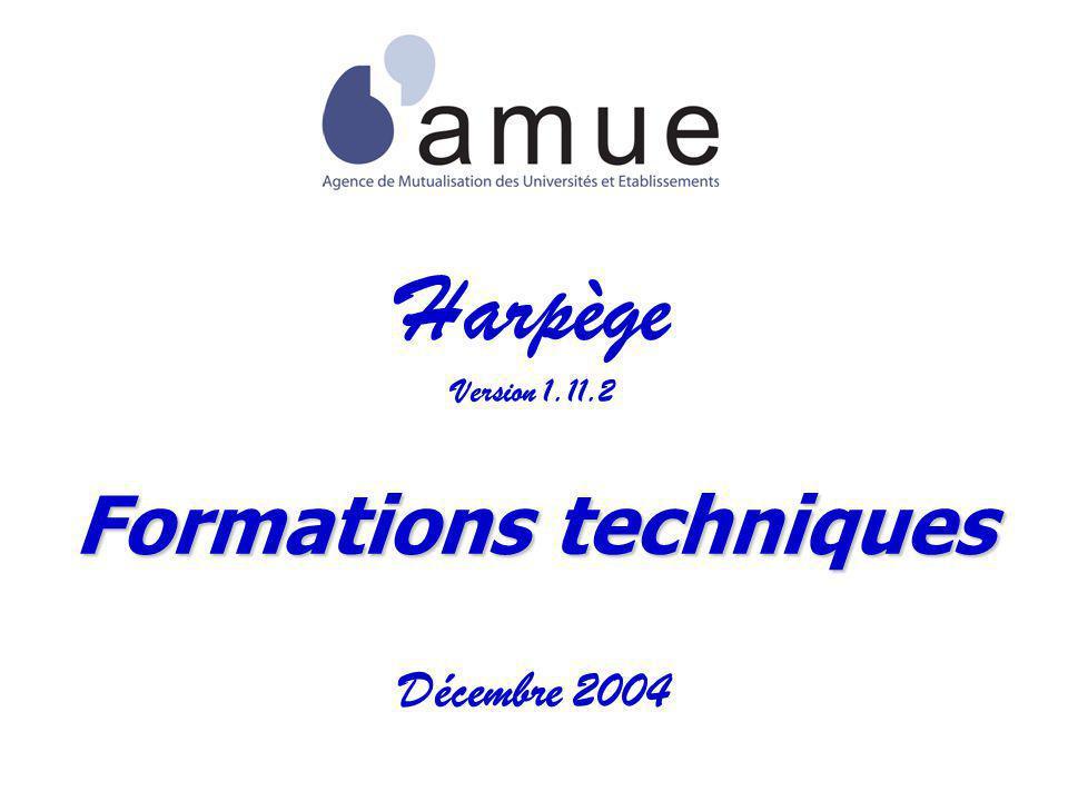 Harpège Version 1.11.2 Formations techniques Décembre 2004