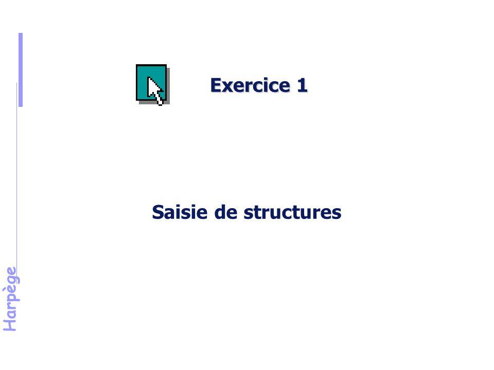 Harpège Saisie de structures Exercice 1