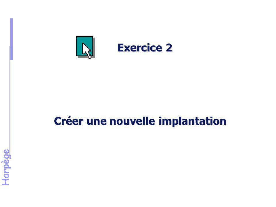 Harpège Créer une nouvelle implantation Exercice 2
