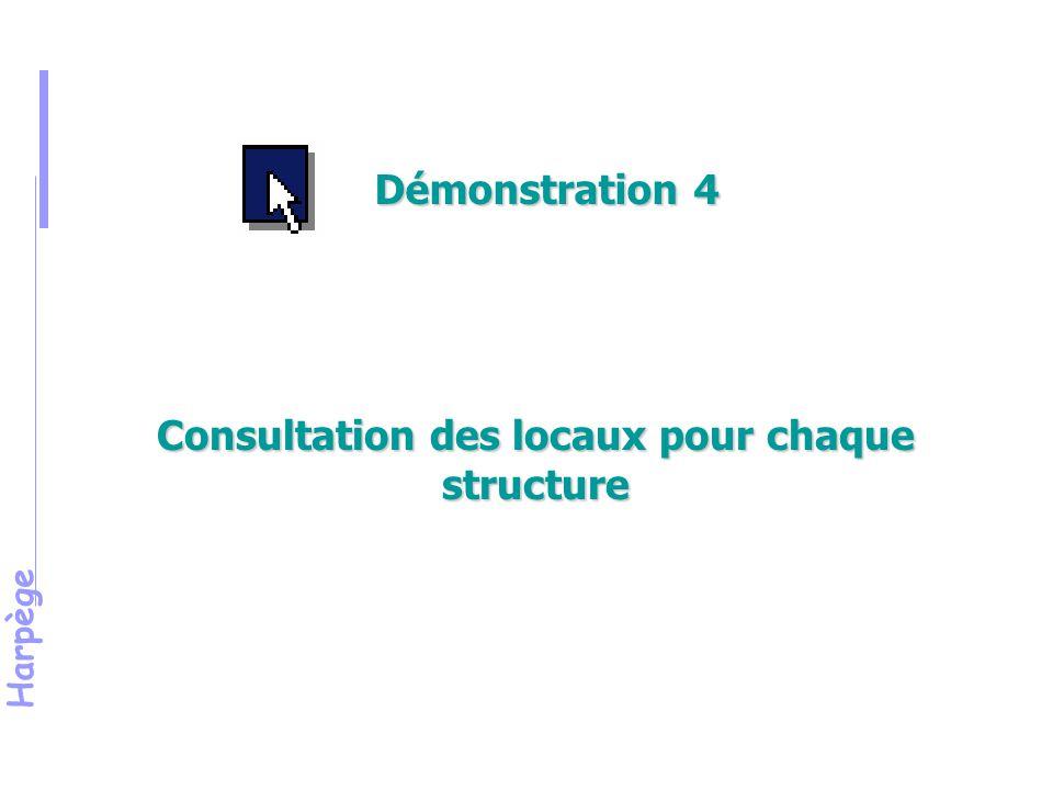 Harpège Consultation des locaux pour chaque structure Démonstration 4