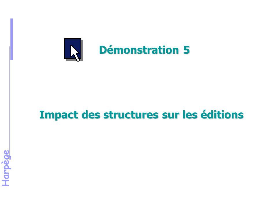 Harpège Impact des structures sur les éditions Démonstration 5