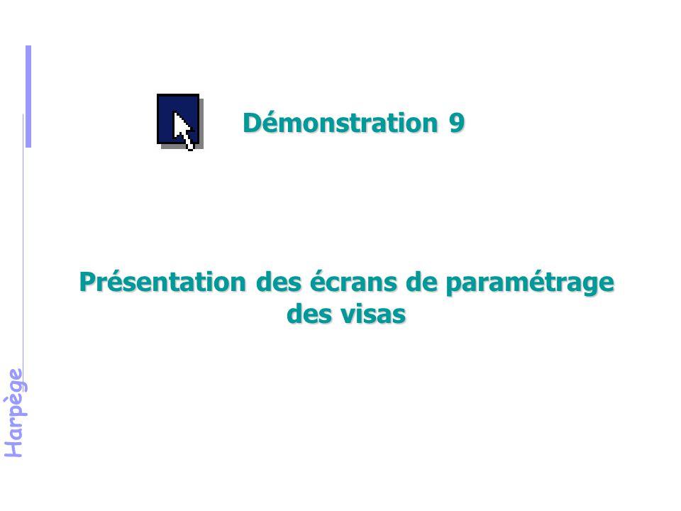Harpège Présentation des écrans de paramétrage des visas Démonstration 9