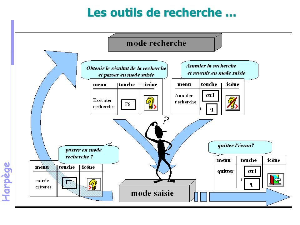 Harpège Module de raccordement (suite) DECLARATION Dans le module d'administration, l'écran « déclaration » permet le raccordement dans l'application HARPEGE de modules spécifiques (écrans, éditions, outils divers).