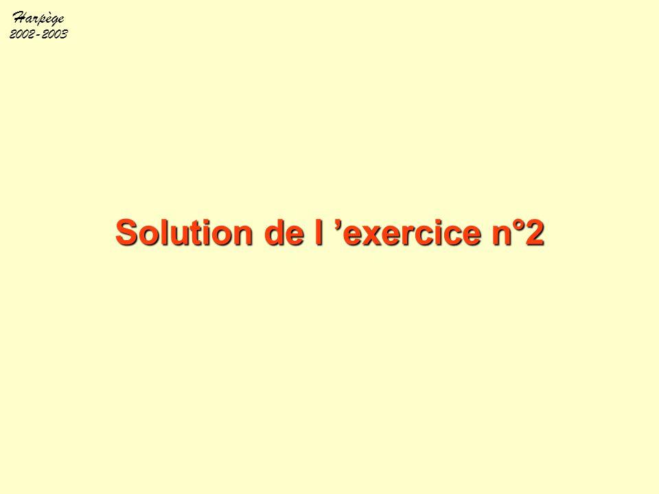 Harpège 2002-2003 Solution de l 'exercice n°2