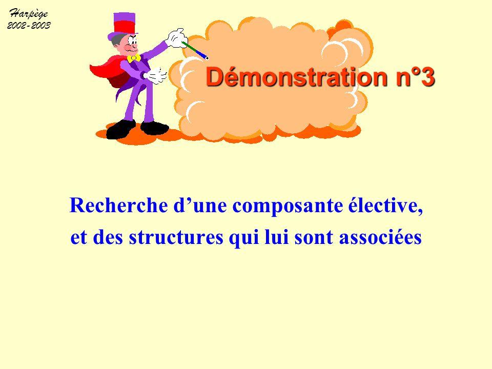 Harpège 2002-2003 Recherche d'une composante élective, et des structures qui lui sont associées Démonstration n°3