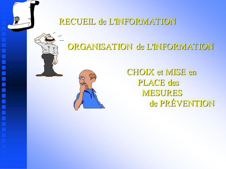 ORGANISATION de L INFORMATION