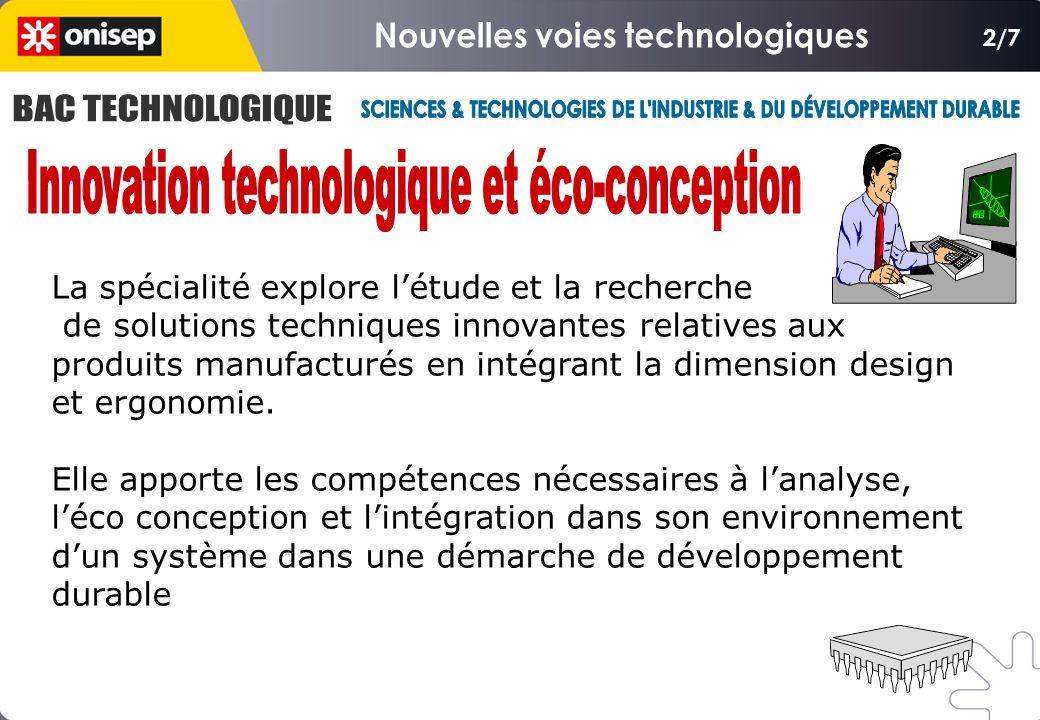 2/7 La spécialité explore l'étude et la recherche de solutions techniques innovantes relatives aux produits manufacturés en intégrant la dimension design et ergonomie.