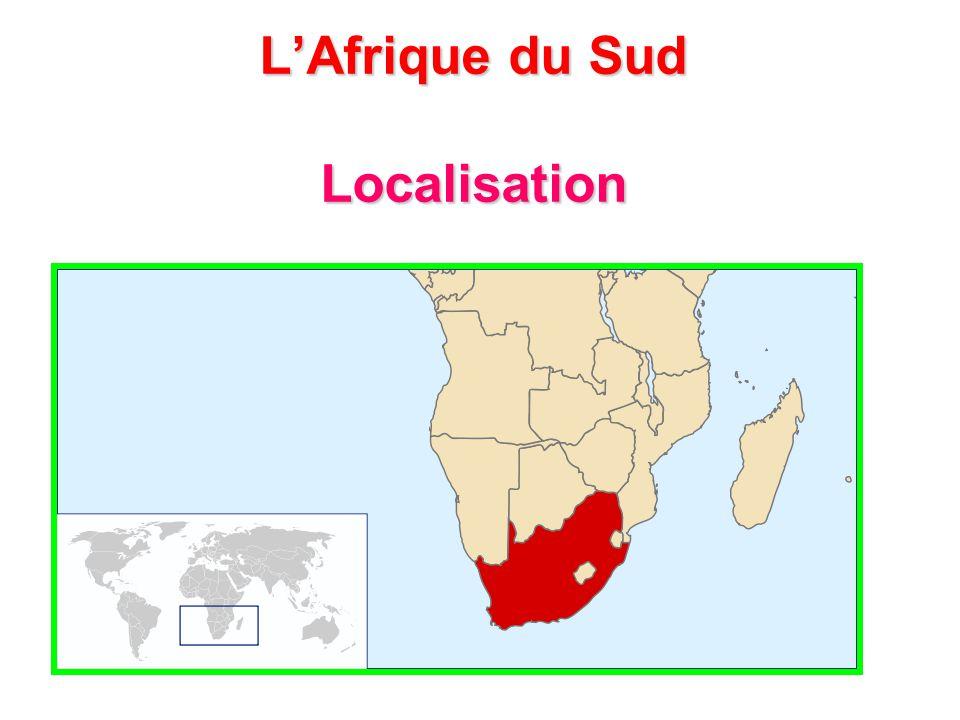 L'Afrique du Sud Localisation