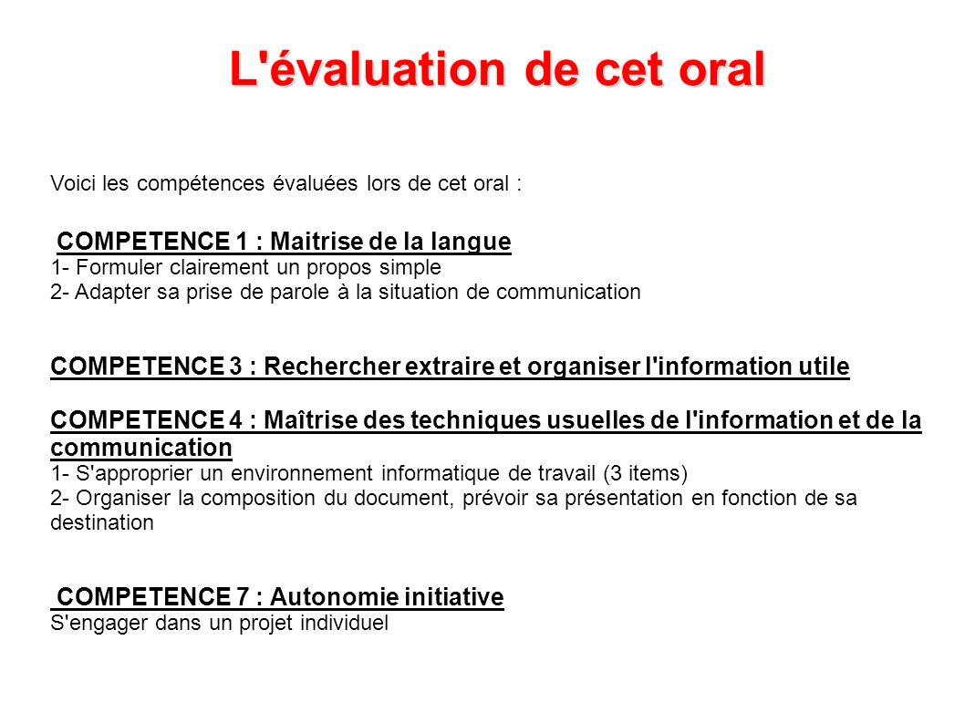 COMPETENCE 1 : Maitrise de la langue 1- Formuler clairement un propos simple 2- Adapter sa prise de parole à la situation de communication COMPETENCE