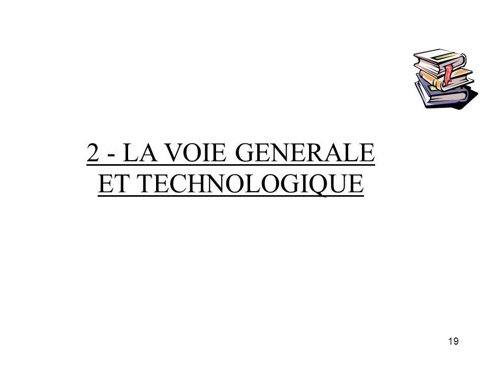 19 2 - LA VOIE GENERALE ET TECHNOLOGIQUE