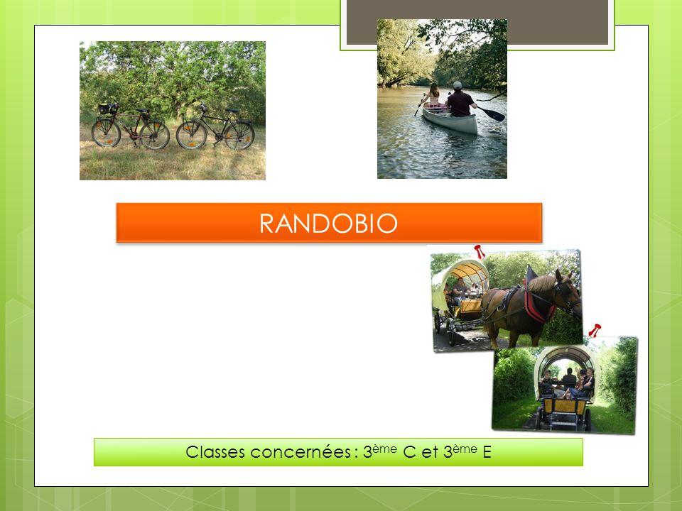 RANDOBIO Classes concernées : 3 ème C et 3 ème E