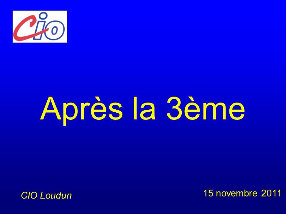 Après la 3ème 15 novembre 2011 CIO Loudun