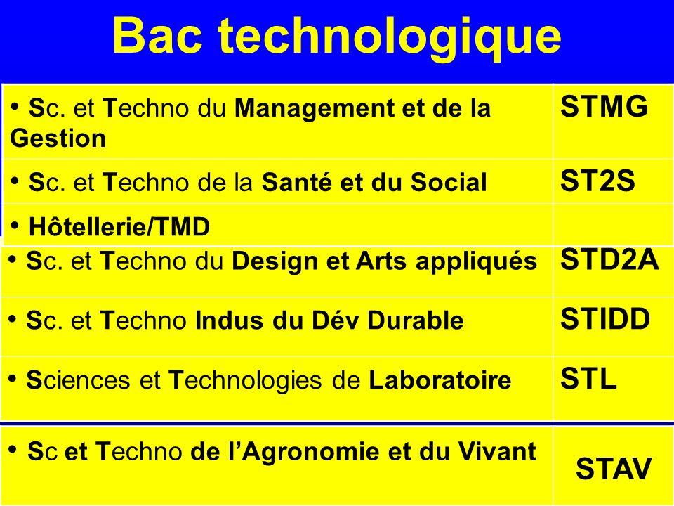 Bac technologique Sc. et Techno du Design et Arts appliqués STD2A Sc.